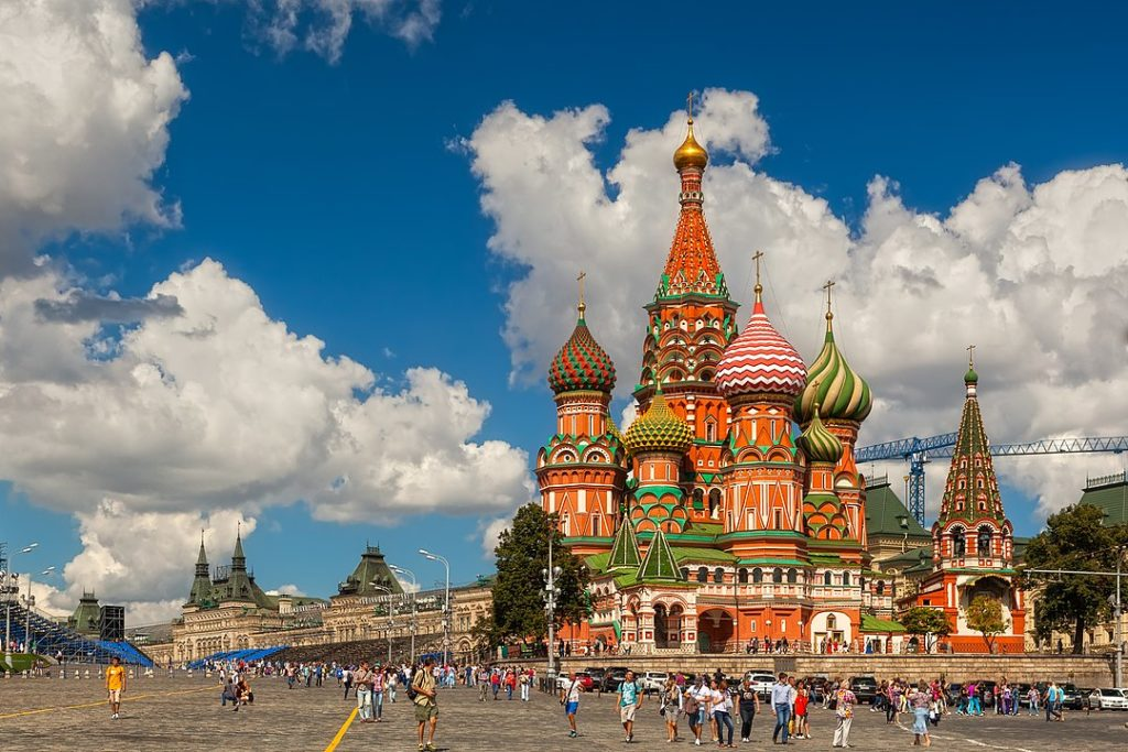 The Saint Basil's Cathedral (also known as the Cathedral of Vasily the Blessed)